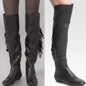 House of Harlow Over the Knee Tessa Fringe Boots